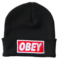 OBEY Standard Issue Beanie Black