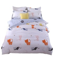 Cool Lovely Cat Bedding Set Comforter/Quilt/Duvet Cover Single Twin Double Full Queen King Bed Linen Kids Girl's Bedroom Bright ColorAT_93_12