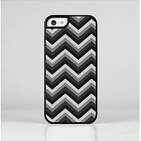 The Black Grayscale Layered Chevron Skin-Sert Case for the Apple iPhone 5c