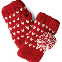 The Pom That I Want Glovettes in Red | Mod Retro Vintage Gloves | ModCloth.com
