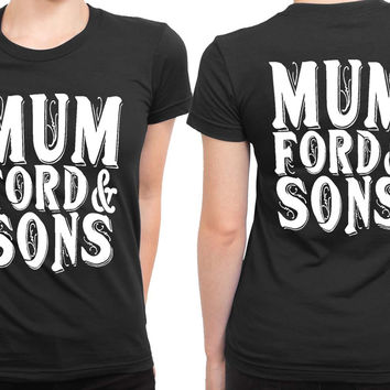 Mumford And Sons Title Large 2 Sided Womens T Shirt