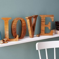 Natural Mango Wooden Letter
