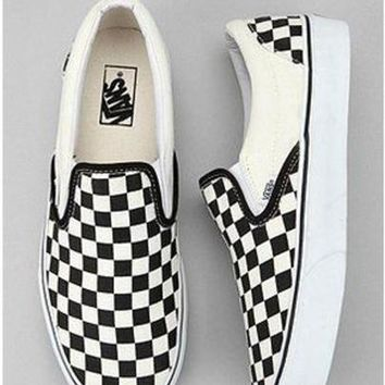 vans checkerboard slip on legit check