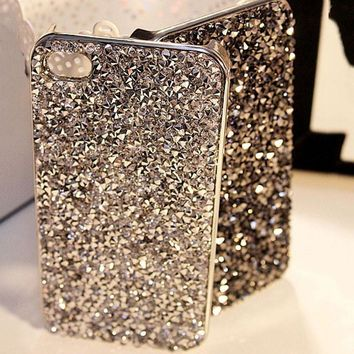 Luxury Crystal Rhinestone Cover Case For Iphone Fashional Bling Diamond Phone Case For Iphone 6 6s