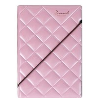 JAVOedge Diamond Pattern Passport Holder (Light Pink)