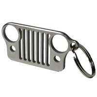 Jeep Wrangler Grill Stainless Steel Keychain for CJ JK TJ YJ XJ - KeyRing Key Chain