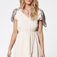 Kendall & Kylie Asymmetrical Embellished Surplice Dress - Womens Dress