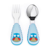 Skip Hop Zoo Straw Bottle and Utensil Set - Owl