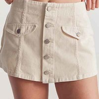 BDG Winona Button-Front Skort - Urban Outfitters