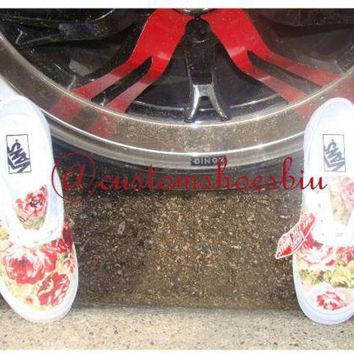 DCCKBG3 Custom Floral Vans- Men Women Kids