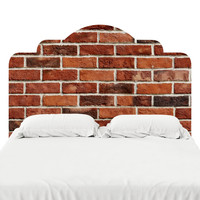 Red Brick Headboard Decal