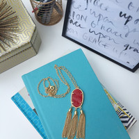Triple Threat Tassle Necklace
