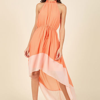 Befitting of Fame Maxi Dress in Peach | Mod Retro Vintage Dresses | ModCloth.com