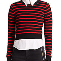 Marc by Marc Jacobs - Jacquelyn Striped Cropped Sweater - Saks Fifth Avenue Mobile
