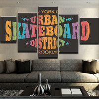 Urban Skateboard District Canvas Set