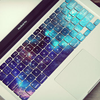 Galaxy Macbook Keyboard Stickers Skin Space Stars Universe Celestial Tastatur Skin Sticker Vinyl Macbook Keyboard Decal