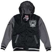 Oakland Raiders Mitchell & Ness League Standings Jacket – Black