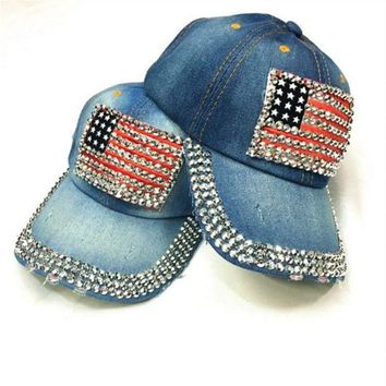 ONETOW Fashion An American flag baseball cap
