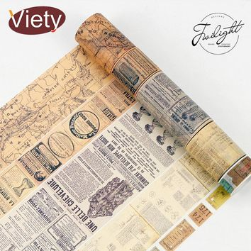 1.5-6cm*8m Vintage map ticket washi tape DIY decorative scrapbooking planner masking tape adhesive tape label sticker stationery