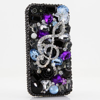 Black and Purple Music Note Design (style 394)