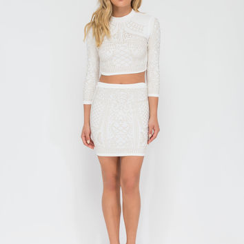 Stand Out Statement Top 'N Skirt Set