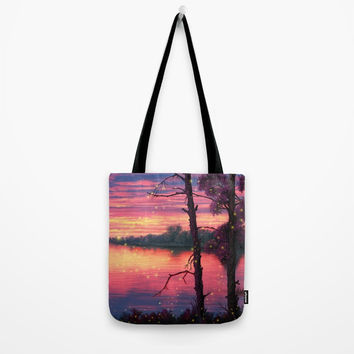 Fireflies Tote Bag by exobiology