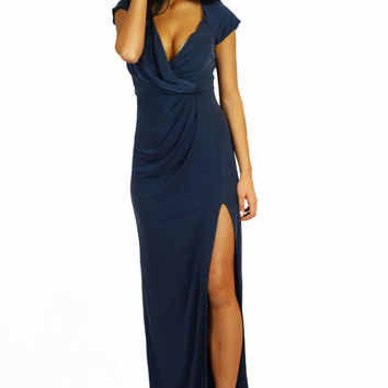 The Jetset Diaries Novella Maxi Dress Cobalt