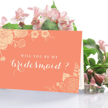 Will you be my Bridesmaid Cards, Bridal Party Invitations, Will you be my Maid of Honor