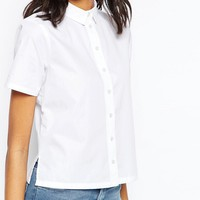 ASOS Boxy Shirt With Short Sleeve