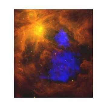 Santa Claus in Orion in x-ray Stretched Canvas Prints