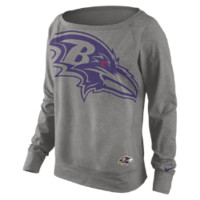 Nike Wildcard Epic NFL Baltimore Ravens Women's Sweatshirt - Dark Grey Heather