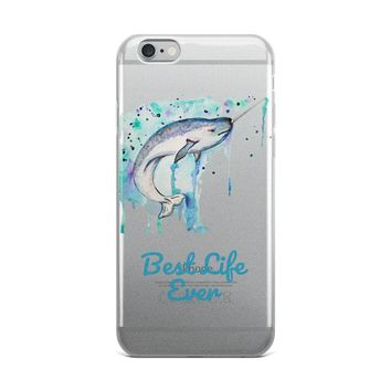 Narwhal The Real Unicorn iPhone Case