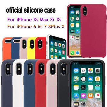 Have LOGO Original Style Silicone Case For iPhone 7 Plus Case For iPhone Xs Max Case For iPhone X 7 8 6 6S Plus Retail Box Cases