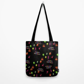 Happy Birthday Tote Bag by Colorful Art