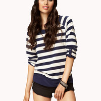 Striped French Terry Sweater