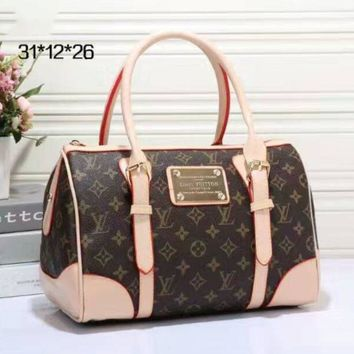 LV Women Shopping Bag Leather Tote Handbag Shoulder Bag H
