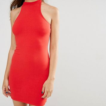 Glamorous High Neck Pencil Dress at asos.com