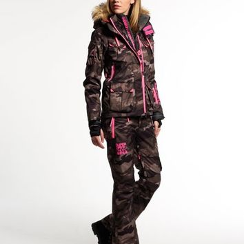 Womens - Ultimate Snow Service Ski Jacket in Camo | Superdry
