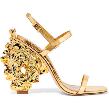 Tory Burch - Firenza metallic leather sandals