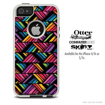 The Abstract Neon Zig Zag Pattern Skin For The iPhone 4-4s or 5-5s Otterbox Commuter Case