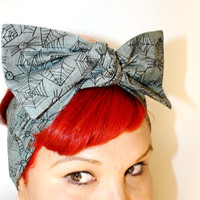 Bow hair tie, Itsy Bitsy Spider, Retro