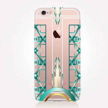 Transparent Art Deco Phone Case - Transparent Case - Clear Case - Transparent iPhone 6 - Gel Case - Soft TPU Case - Samsung S7