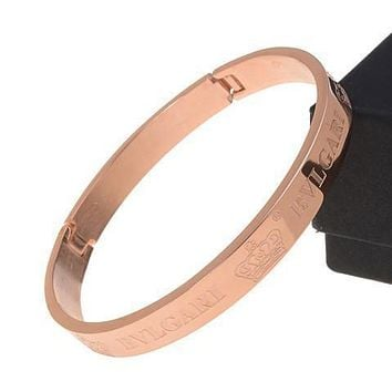 Bvlgari Woman Fashion Logo Crown Plated Bracelet For Best Gift