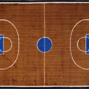 Fun Rugs Supreme Collection Basketball Court Area Rug