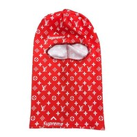LV x SUP Ski Mask in RED
