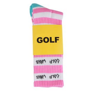 GOLFWANG STRIPE SOCK PINK/WHITE/BLUE
