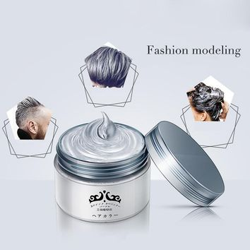 Grandma Gray Hair Wax Does Not Hair Hurt Silver Gray One-Time Hair Dye Fifty Degrees Grey Hair 7 Colors 120g