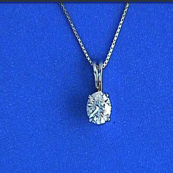 0.90ct H-VS1 Diamond Pendant Necklace on chain 18kt JEWELFORME BLUE not blue nile