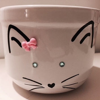 Fox Soup Mug, Fox Stoneware Ceramic Cup, Woodland Cup, Foxy Lady Bowl, Fancy Fox Bowl, Cute Fox Mug, Kawaii Fox Bowl, Fox Kitchen Decoration