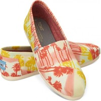 Orange Palm Trees Women's Classics